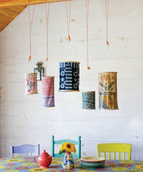 Free Project: Embroidery Hoop Lanterns from Crafting a Colorful Home